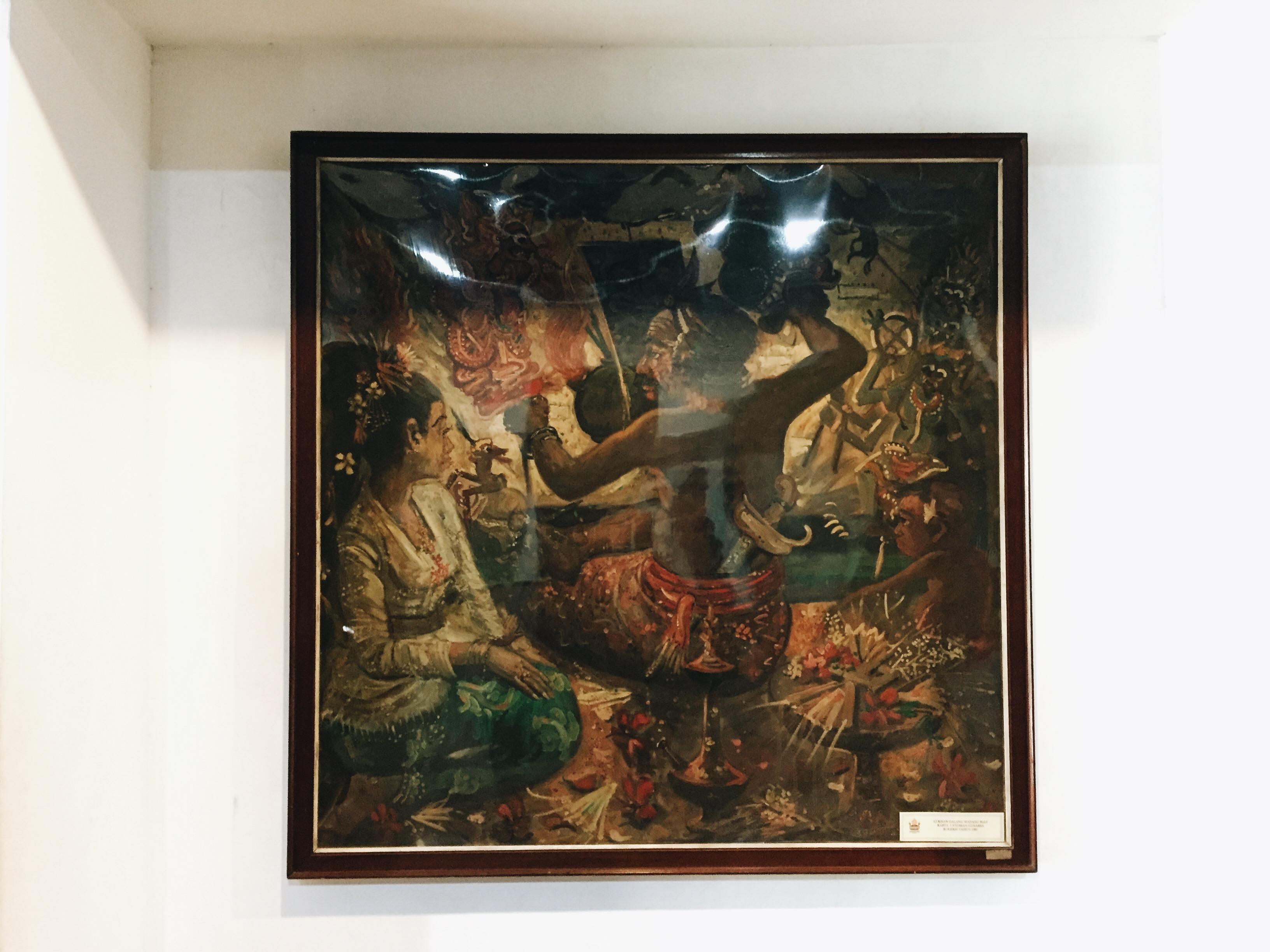 Lukisan Dalang Wayang Bali