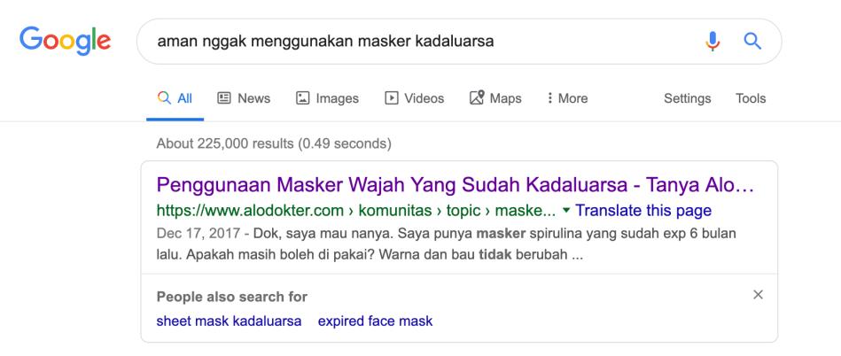 aman nggak menggunakan masker kadaluarsa